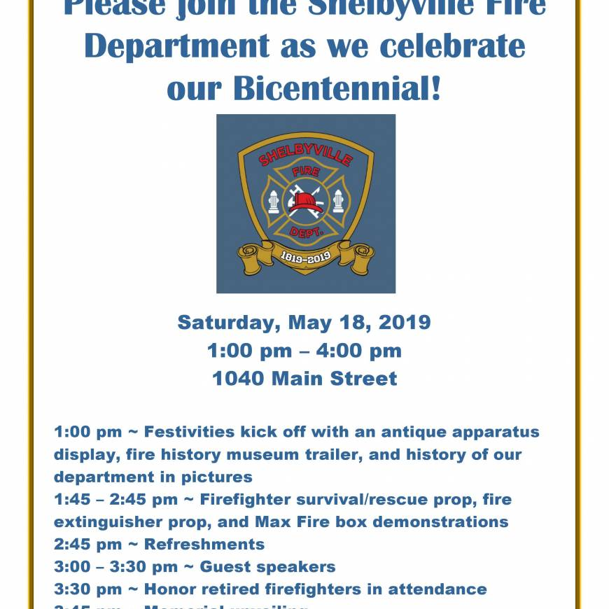 COME JOIN US AS WE CELEBRATE 200 YEARS!