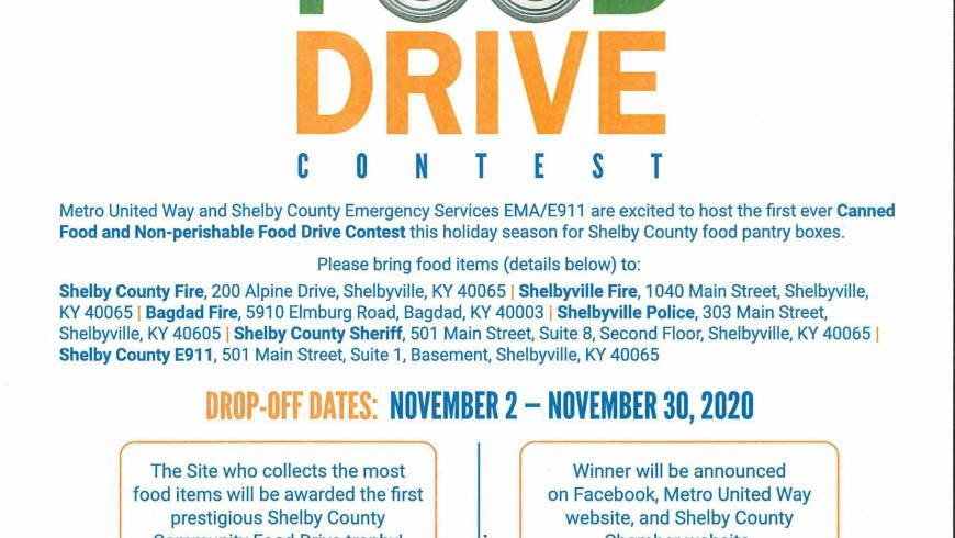 SHELBY COUNTY COMMUNITY FOOD DRIVE!